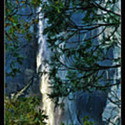 Yosemite Falls Through Trees Poster