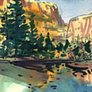 Yosemite Valley In January Poster