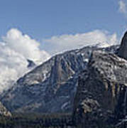 Yosemite Valley Panoramic From Tunnel View Poster