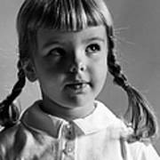 Young Girl Poster by Hans Namuth and Photo Researchers