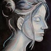 Young Woman In Profile-quick Self Study Poster