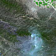 Zaca Fire In Southern California Poster