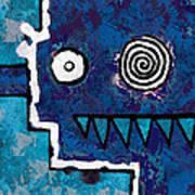 Zeeko - Blue And Aqua Poster
