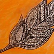 Zentangle Leaf Poster