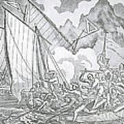 Zheng Yis Pirates Capture John Turner Poster by Photo Researchers