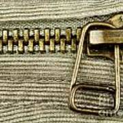 Zipper Detail Close Up Poster by Blink Images