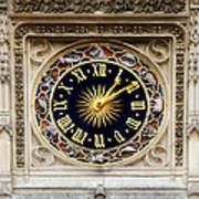 Zodiac Clock Poster