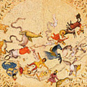 Zodiac Signs From Indian Manuscript Poster by Science Source