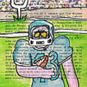 Zombie Football Poster by Jera Sky