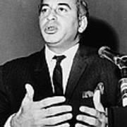 Zulfikar Bhutto At A 1965 Press Poster by Everett