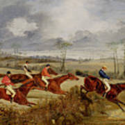 A Steeplechase - Near The Finish Poster