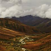 Brooks Range, Dalton Highway And The Trans Alaska Pipeline  Poster