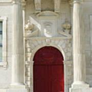 Burgundy Door Poster