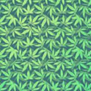 Cannabis   Hemp  420   Marijuana  Pattern Poster
