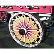 Circus Wagon Wheel Poster