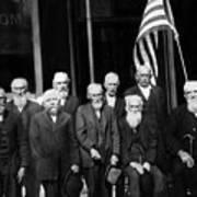 Civil War Veterans October 8 1923 Black White Poster
