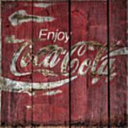 Coca Cola Sign Barn Wood Poster