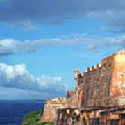 El Morro Fortress Rainbow Poster