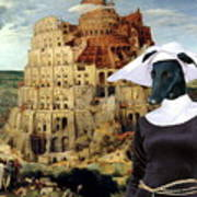 Galgo Espanol - Spanish Greyhound Art Canvas Print -the Tower Of Babel  Poster