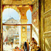 Gate Of The Great Mosque. Damascus Poster