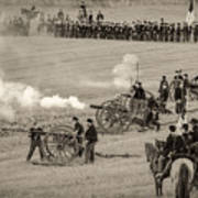 Gettysburg Union Artillery And Infantry 7439s Poster
