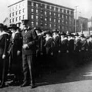Group Women Females In Navy Circa 1918 Black Poster