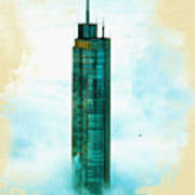 Illustration Of  Trump Tower Poster