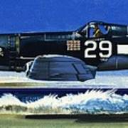 Into The Blue American War Planes Poster