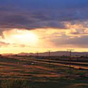 Last Light On The Railroad Poster