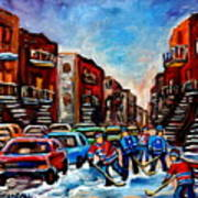 Late Afternoon Street Hockey Poster