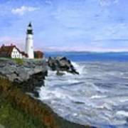Lighthouse South Portland Me  Poster