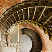 Lighthouse Stairs Cape Blanco Oregon 1 Poster