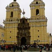 Lima Peru Church Poster