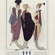 Manteau De Velours Bleu Poster
