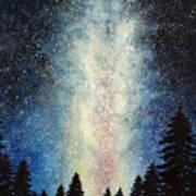 Milky Way At Night Poster