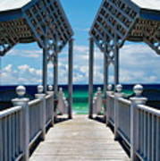 Oceanfront Pavilion Poster