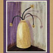 Octillo Branches In An Urn Poster