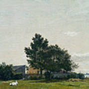 Party Near The Lime Kiln With Views Towards The Copenhagen  Poster