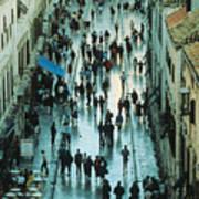 Promenade In Dubrovnik Poster