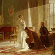 Queen Victoria Receiving News Poster