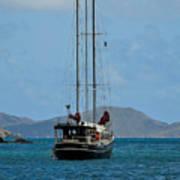 Sailing Virgin Islands Poster