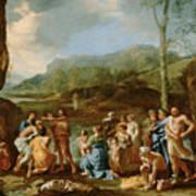 Saint John Baptizing In The River Jordan Poster