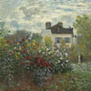 The Artist's Garden In Argenteuil  Poster