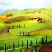 Tuscany Poster by Maryann Schigur