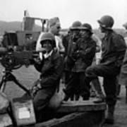 Wacs Learning Fire Machine Gun Circa 1943 Black Poster
