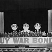 War Bond Rally Buy Bonds February 1944 Black Poster