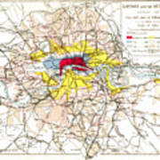 Map Of London, 1881 Poster
