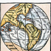 World Map, 1529 Poster