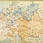 Austrian Empire Map, 1795 Poster