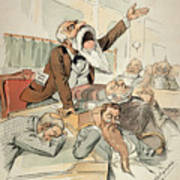 Senate Cartoon,free Silver Poster by Granger